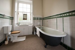 Interior shoots of Burgie House. Antique Bath, East wing.