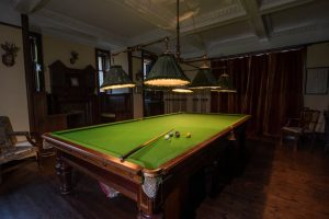 Interior shoots of Burgie House. Billiard Room, Basement, East Wing